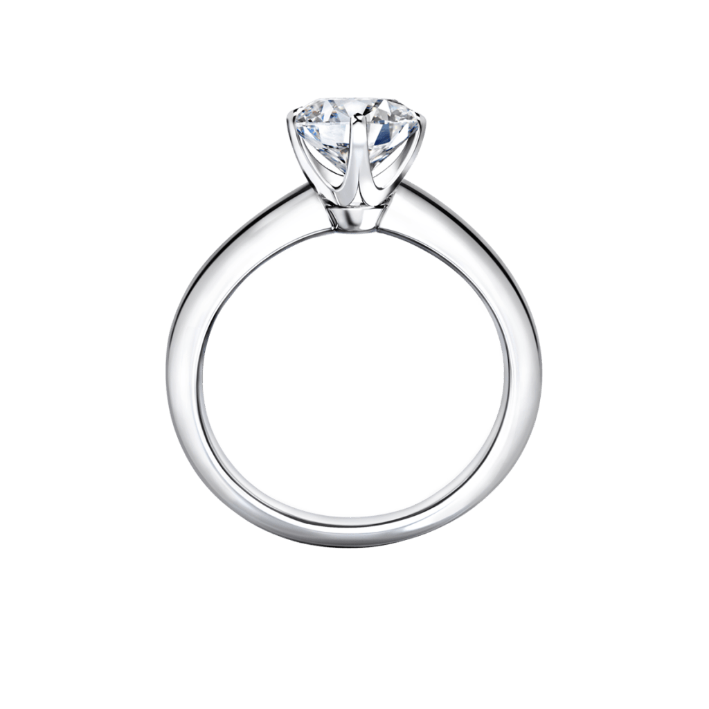 แหวนหมั้นเพชร,แหวนเพชรเม็ดเดี่ยว