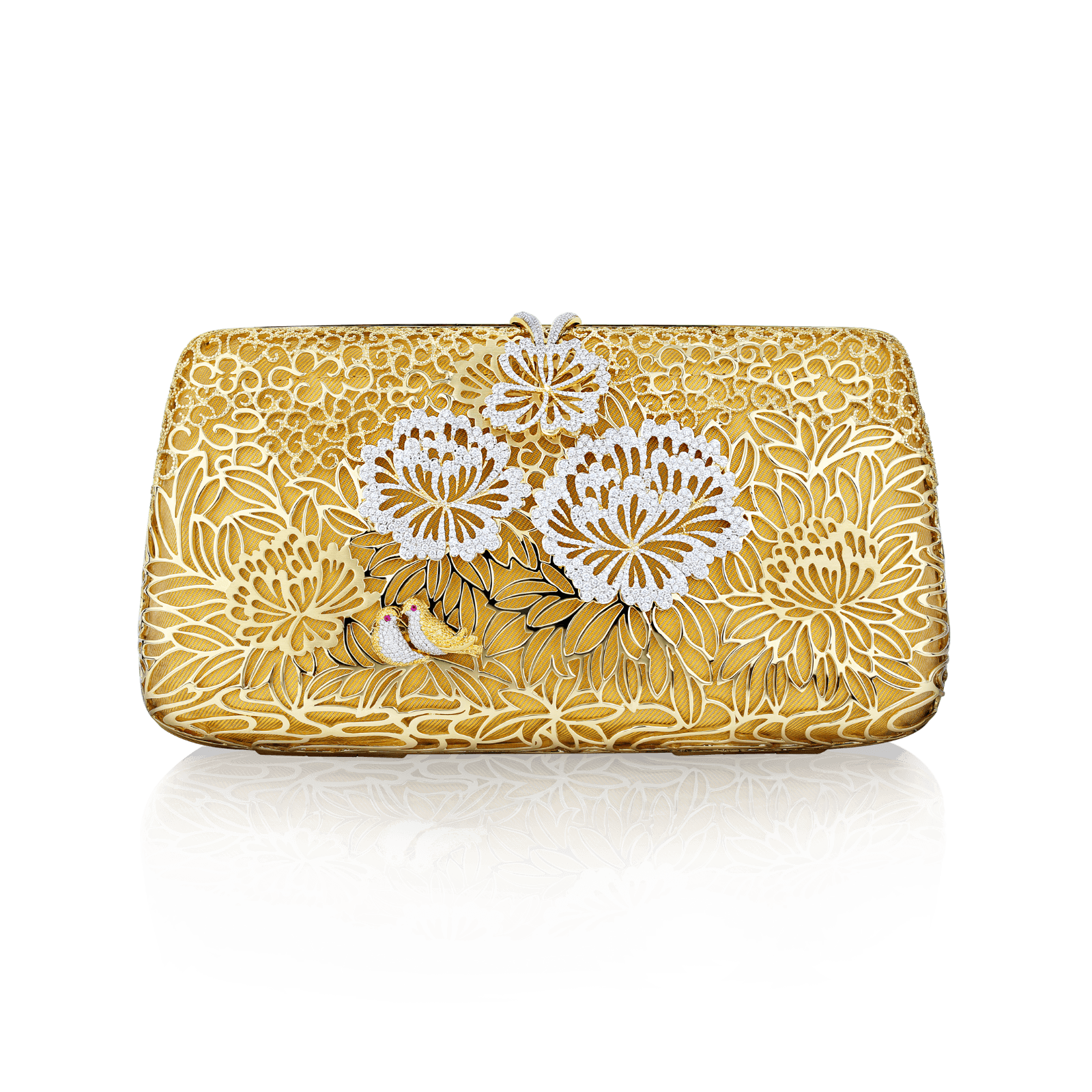 Glamour night clutch Peonies Design V2