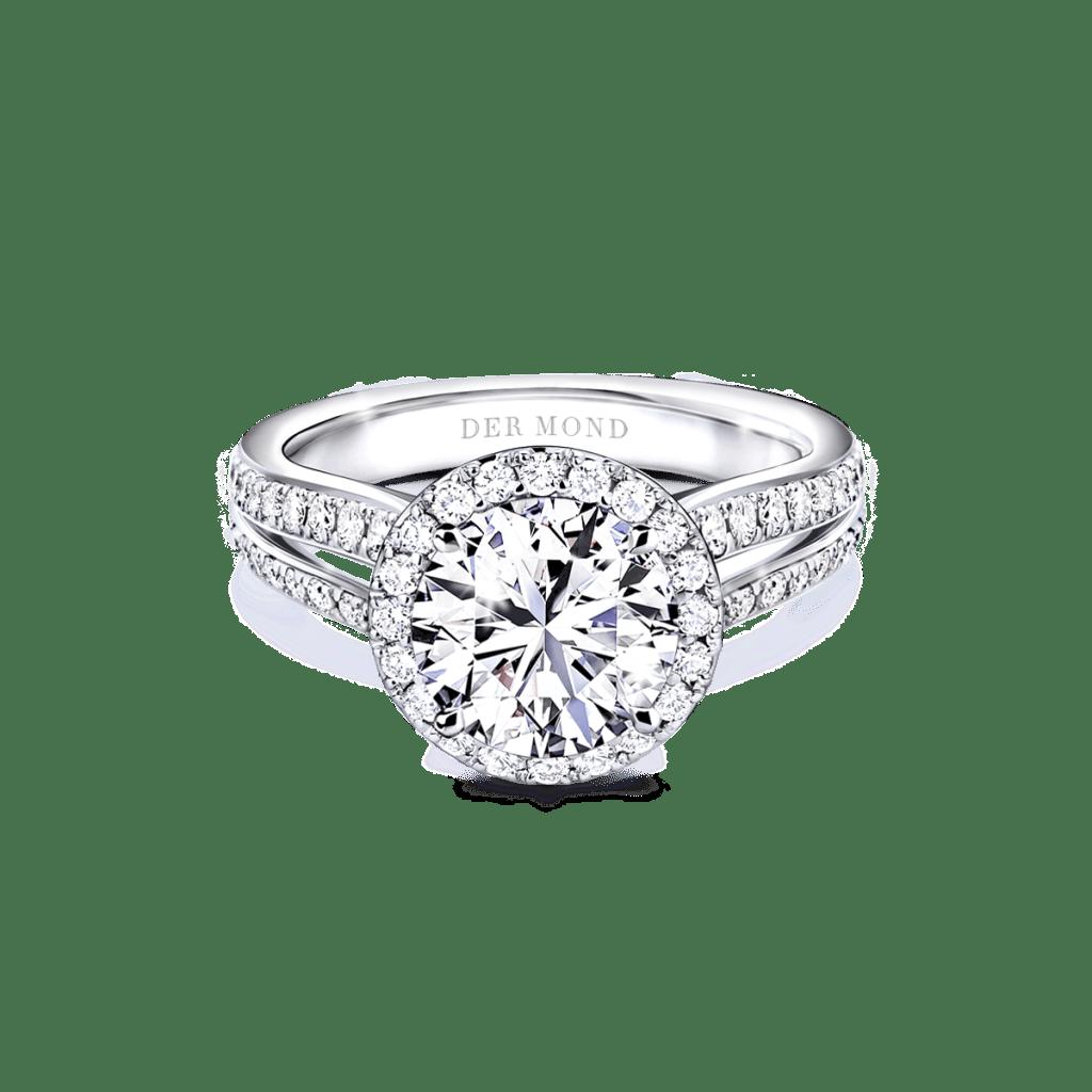 แหวนหมั้นเพชรล้อม