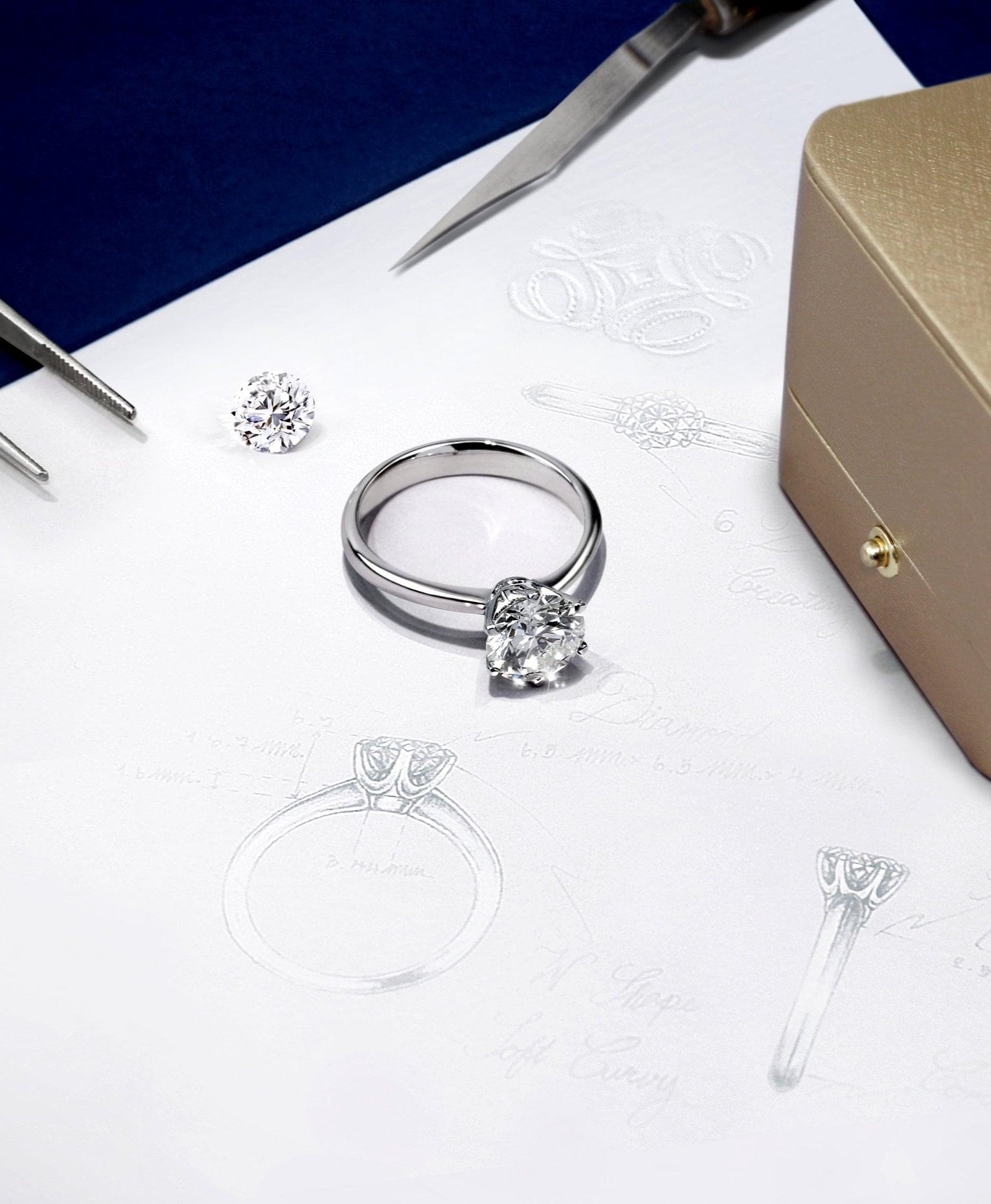 แหวนหมั้น, เพชร, แหวนเพชร, แหวนหมั้นเพชร, DER MOND, ร้านเพชรสยามพารากอน
