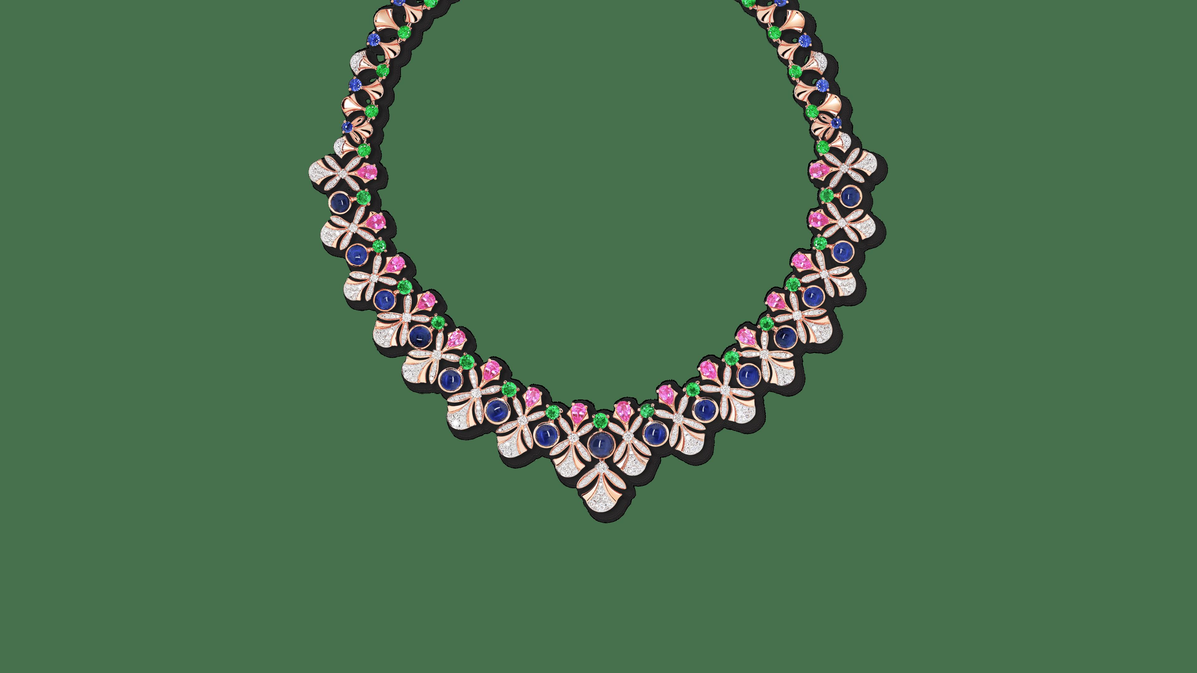 Firework Necklace with Trinity Gemstone